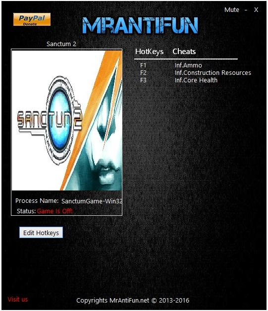 скачать Sanctum 2: Трейнер/Trainer (+3) [V1.4.35442 + DLC]