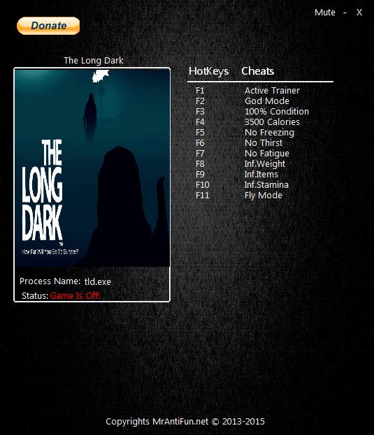 скачать The Long Dark: Трейнер/Trainer (+12) [1.49]