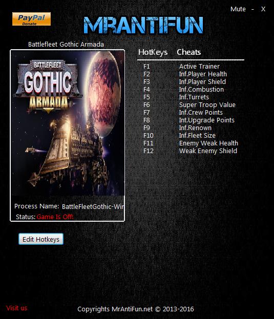 скачать Battlefleet Gothic: Armada: Трейнер/Trainer (+9) [1.8.12174]
