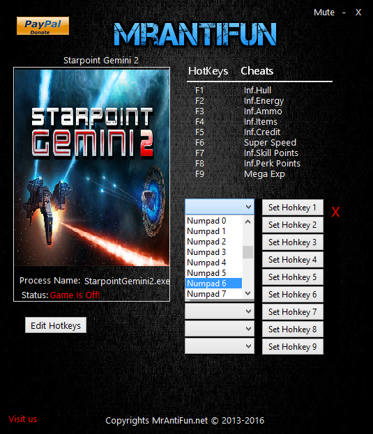 скачать Starpoint Gemini 2: Трейнер/Trainer (+8) [3.0.0.0.1]