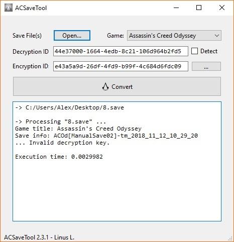 скачать Assassin's Creed: Odyssey: Конвертер Сохранений / Save Convert Tool (ACSaveTool) [2.3.1]
