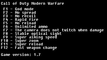 скачать Call of Duty: Modern Warfare: Трейнер/Trainer (+12) [1.7]