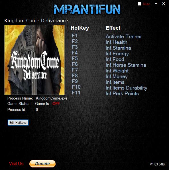 скачать Kingdom Come: Deliverance Трейнер / Trainer (+10) [1.9]