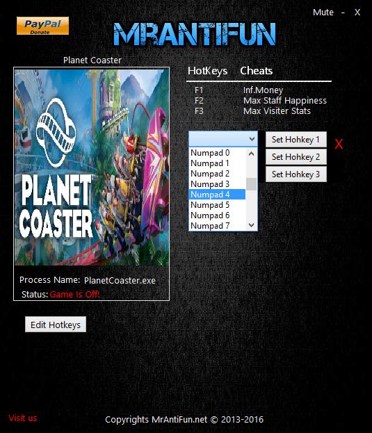 скачать Planet Coaster: Трейнер/Trainer (+3) [1.12.0]