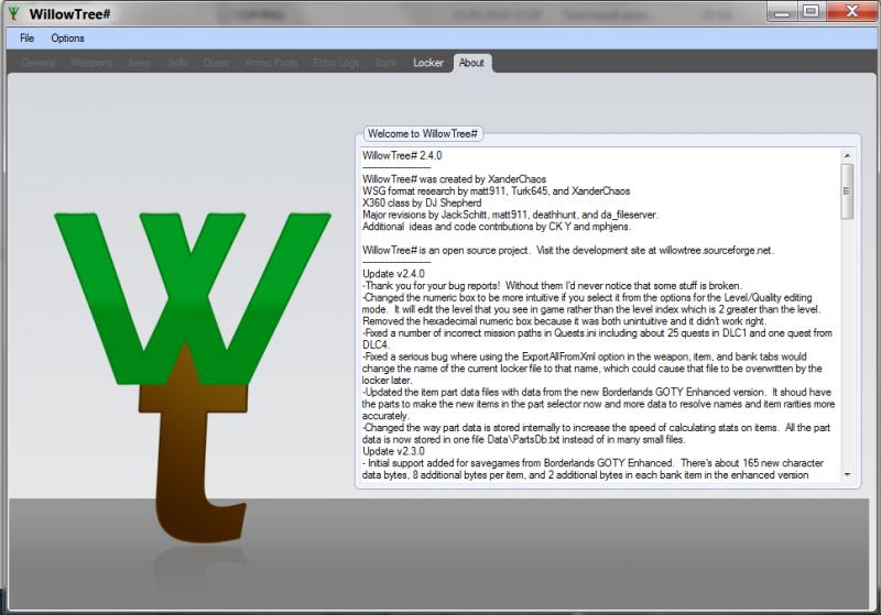 скачать Borderlands: Редактор Сохранений / Save Editor (WillowTree#) [2.4.0.310]