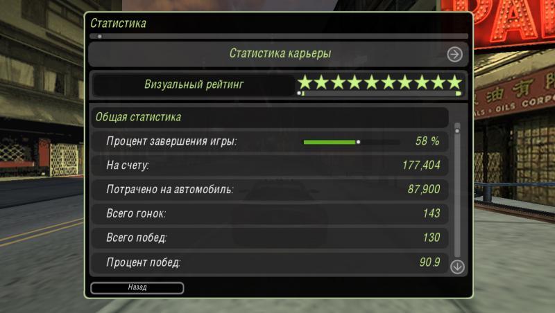 скачать Need for Speed: Underground 2: Сохранение/SaveGame (Пройдено на 58%, сложность Средний)