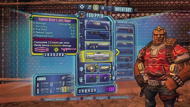 скачать Borderlands 2: Сохранение/SaveGame (Мехромантка, 72 уровень, чёрное оружие)