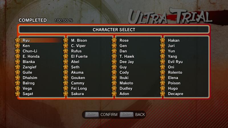 скачать Ultra Street Fighter 4: Сохранение/SaveGame (Пройдены все Испытания, Открыты все Титулы / All Trials Completed, All Titles Unlocked)