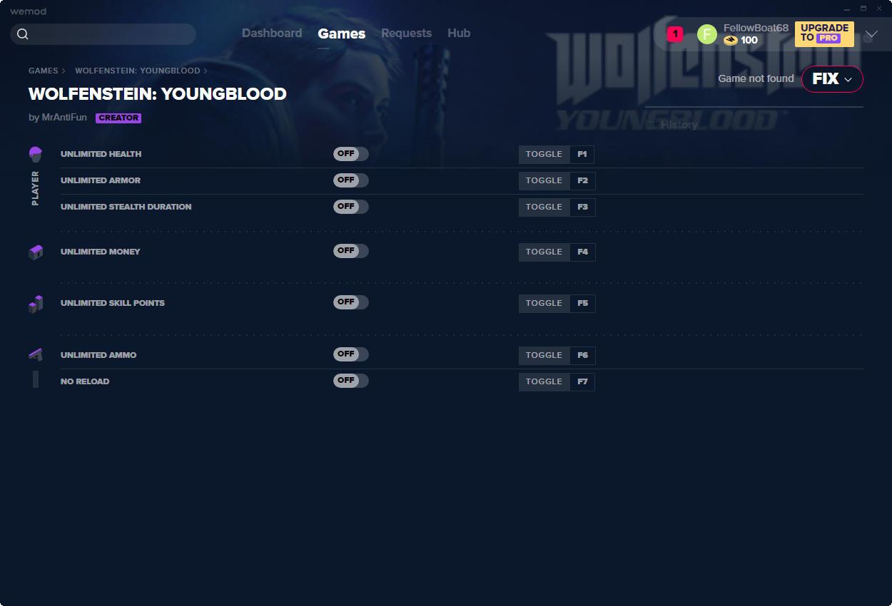 скачать Wolfenstein: Youngblood +7 трейнер v1.0 {MrAntiFun}