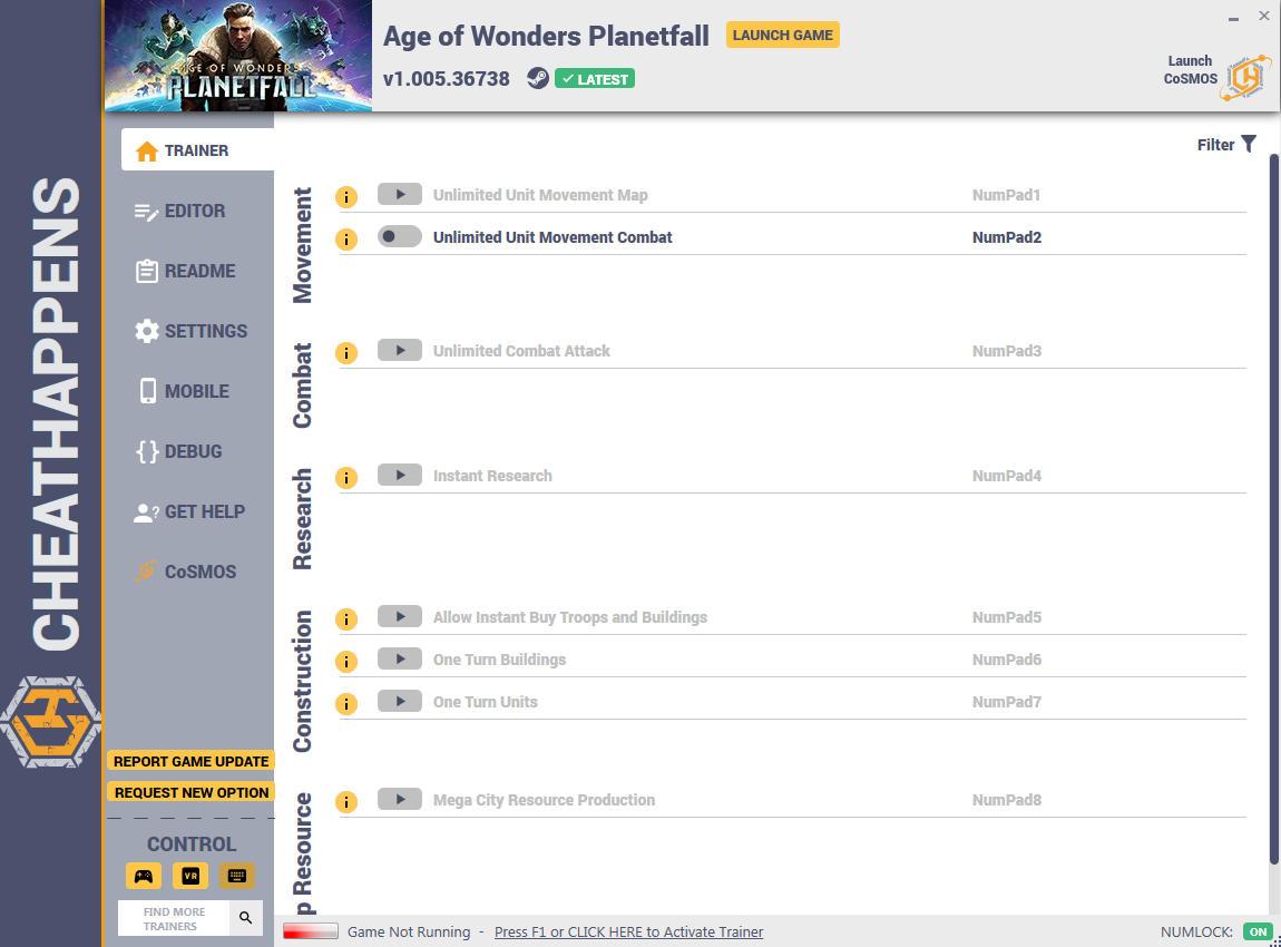 скачать Age of Wonders: Planetfall +24 трейнер v1.005.36738 {CheatHappens.com}