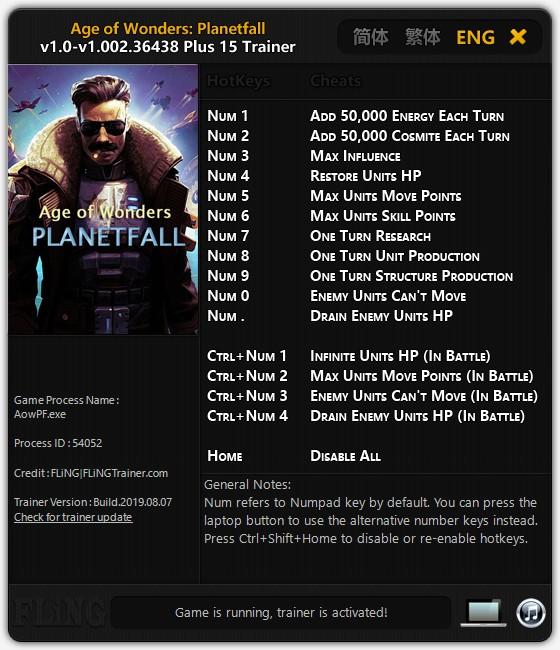 скачать Age of Wonders: Planetfall +15 трейнер v1.0-v1.002 {FLiNG}