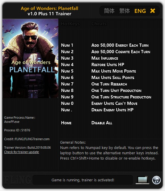 скачать Age of Wonders: Planetfall +11 трейнер v1.0 {FLiNG}