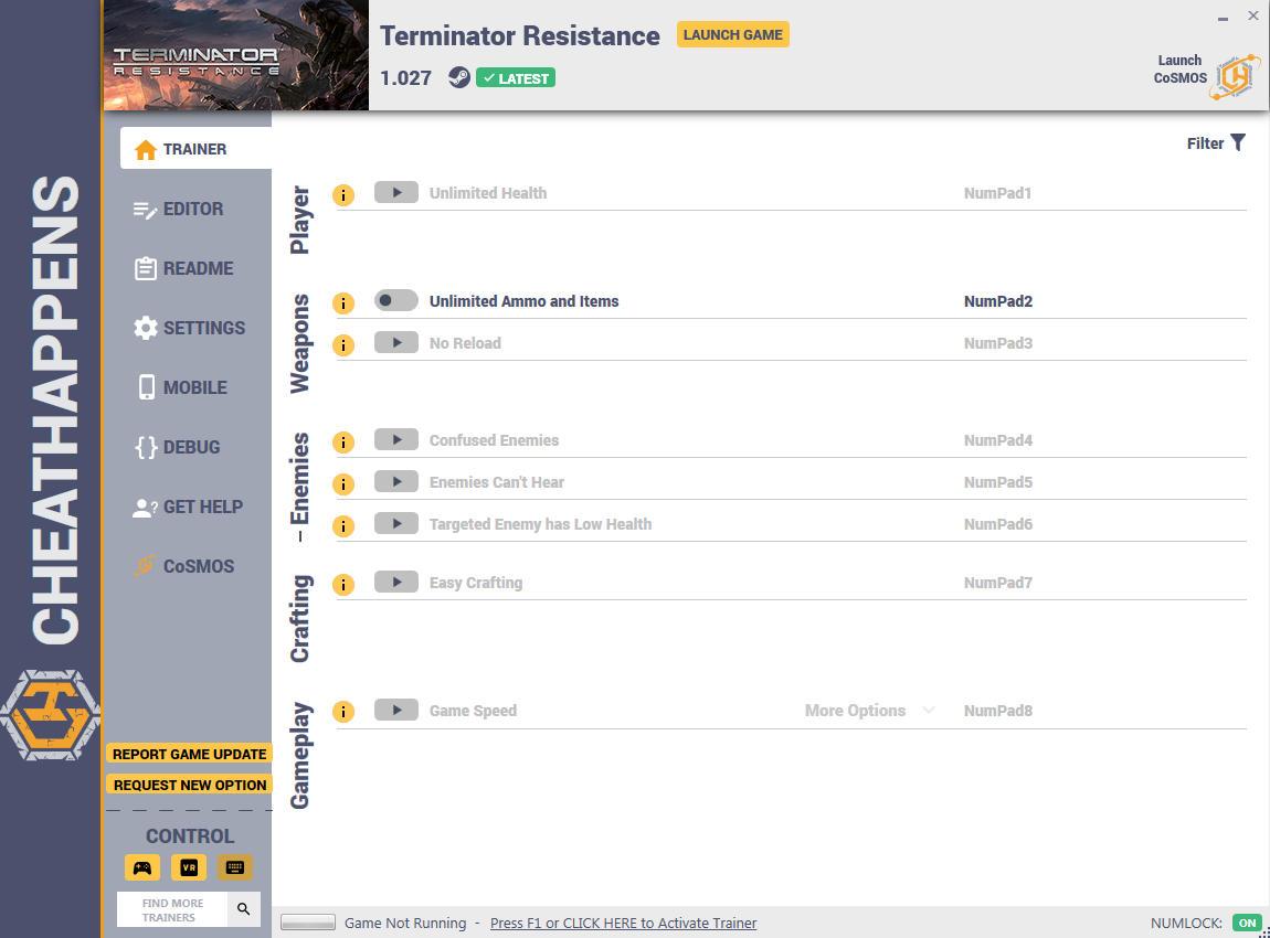 скачать Terminator: Resistance - +12 трейнер v1.027 {CheatHappens.com}