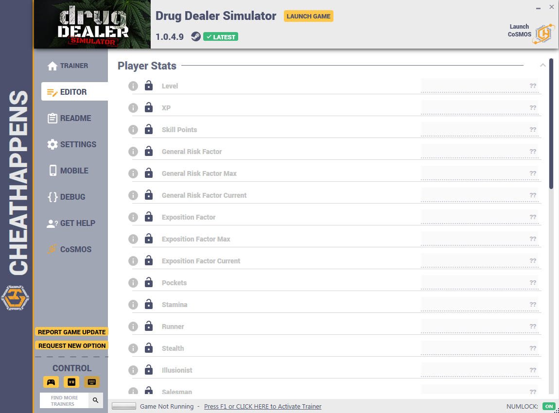 скачать Drug Dealer Simulator: +35 трейнер v1.0.4.9 {CheatHappens.com}