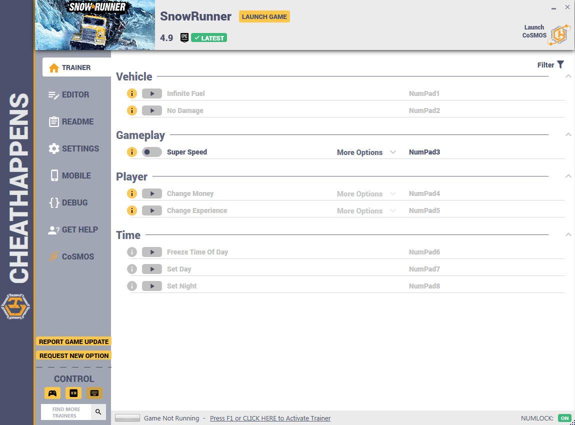скачать SnowRunner: +12 трейнер v4.9 {CheatHappens.com}