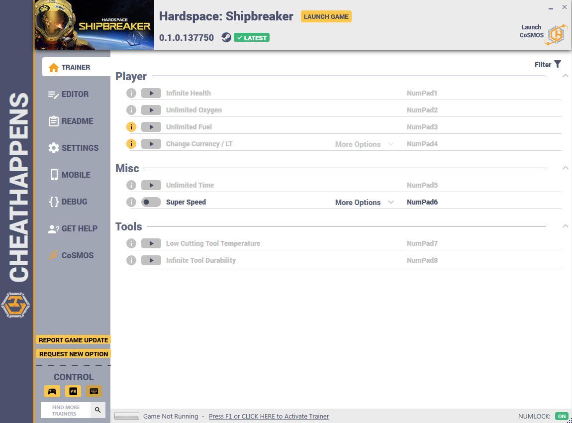 скачать Hardspace: Shipbreaker +10 трейнер v0.1.0.137750 {CheatHappens.com}