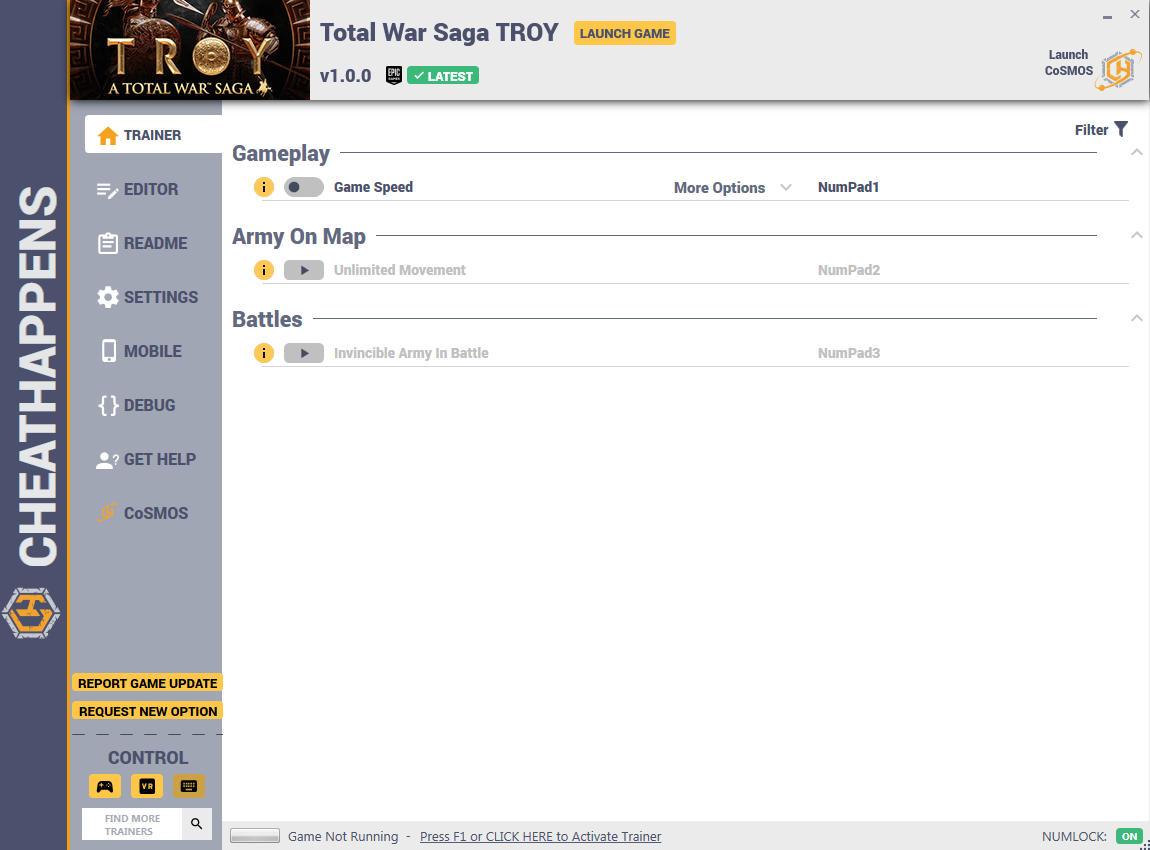 скачать Total War Saga: TROY +11 трейнер v1.0.0 {CheatHappens.com}