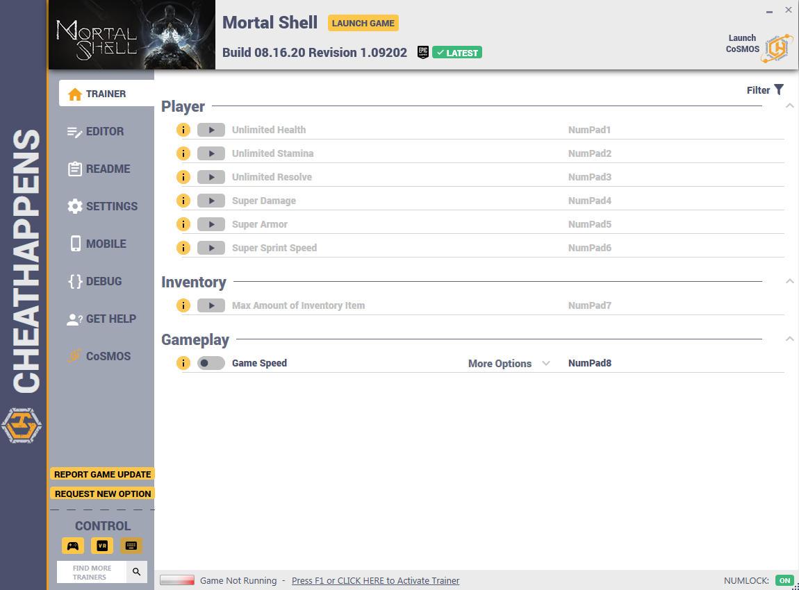 скачать Mortal Shell: +10 трейнер Build 08.16.20 Revision 1.09202 {CheatHappens.com}