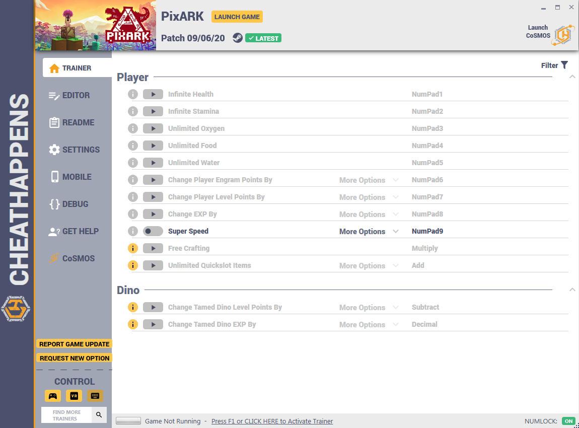 скачать PixARK: +13 трейнер (PATCH 09.06.2020) {CheatHappens.com}