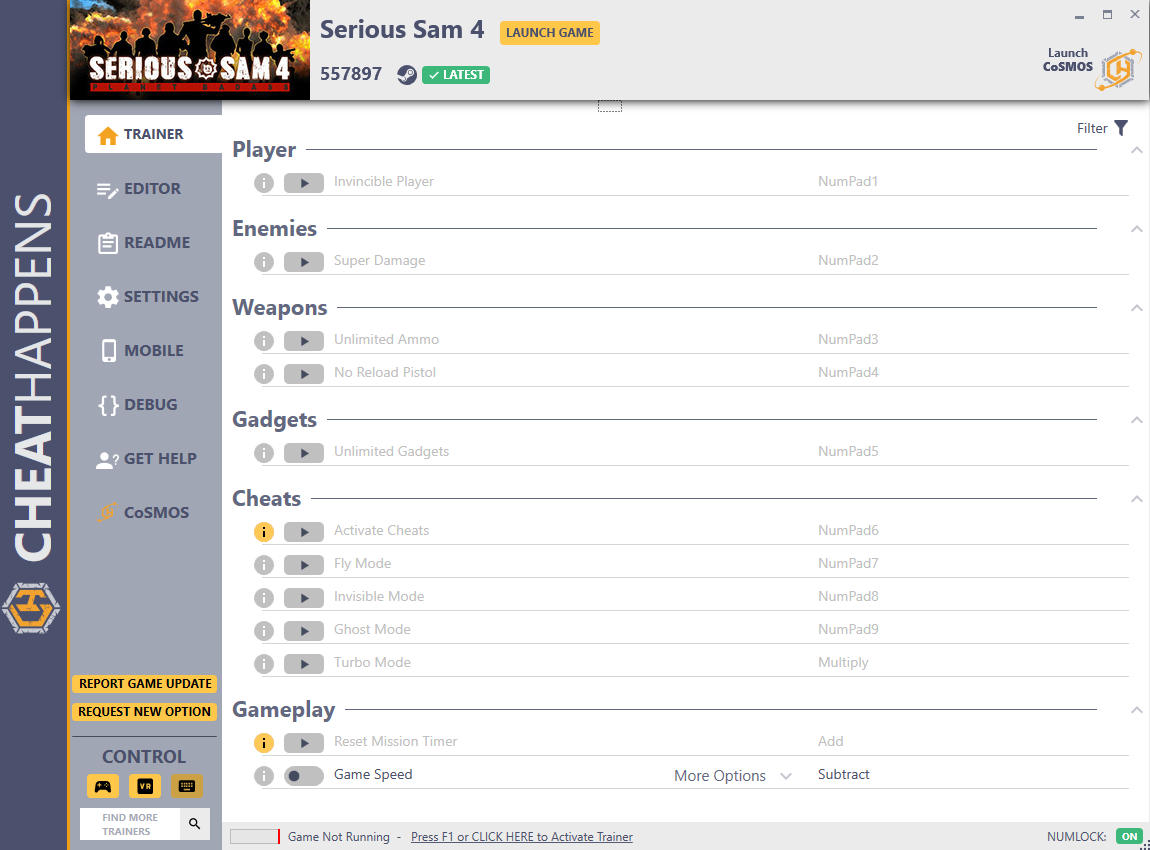 скачать Serious Sam 4: +17 трейнер v557897 {CheatHappens.com}