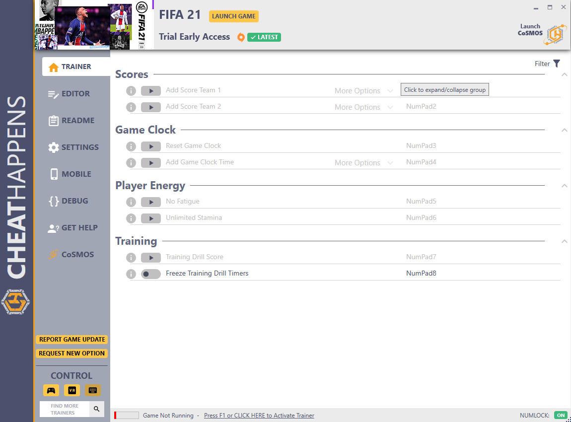 скачать FIFA 21: +12 трейнер Ранний доступ {CheatHappens.com}