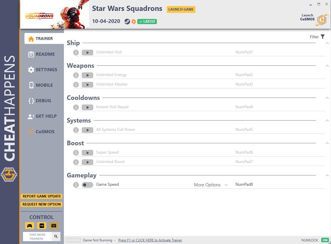скачать Star Wars: Squadrons +8 трейнер v10.04.2020 {CheatHappens.com}