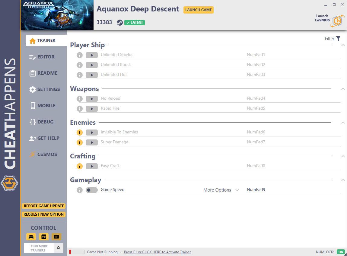 скачать Aquanox Deep Descent +10 трейнер v33383 {CheatHappens.com}