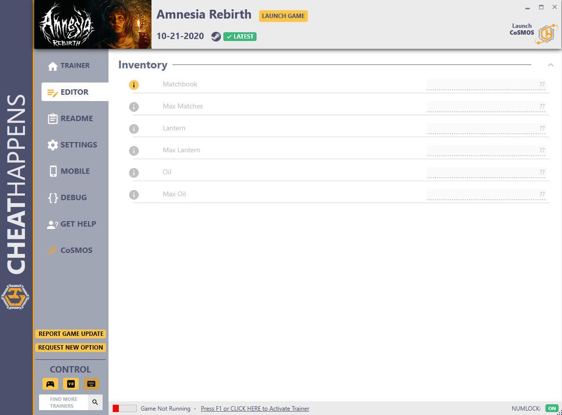 скачать Amnesia: Rebirth +7 трейнер v1.0 {CheatHappens.com}