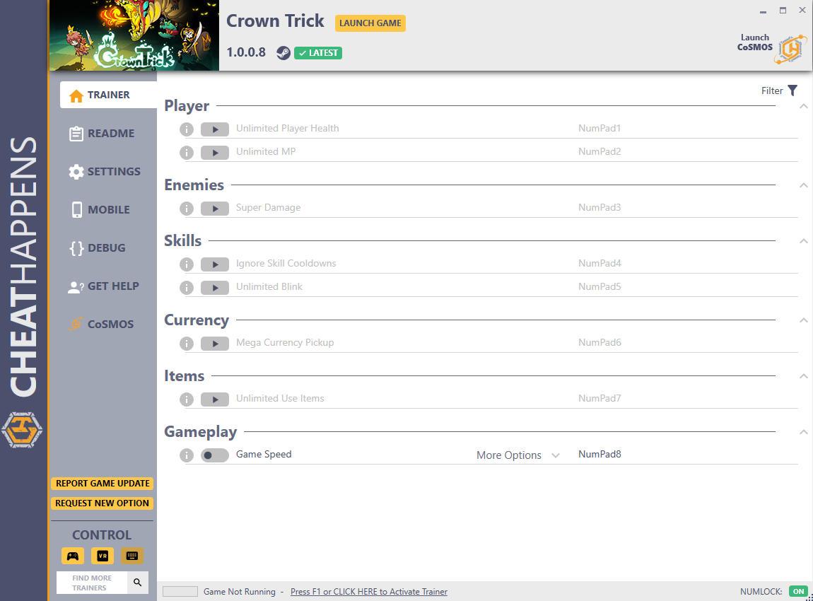 скачать Crown Trick: +8 трейнер v1.0.0.8 {CheatHappens.com}