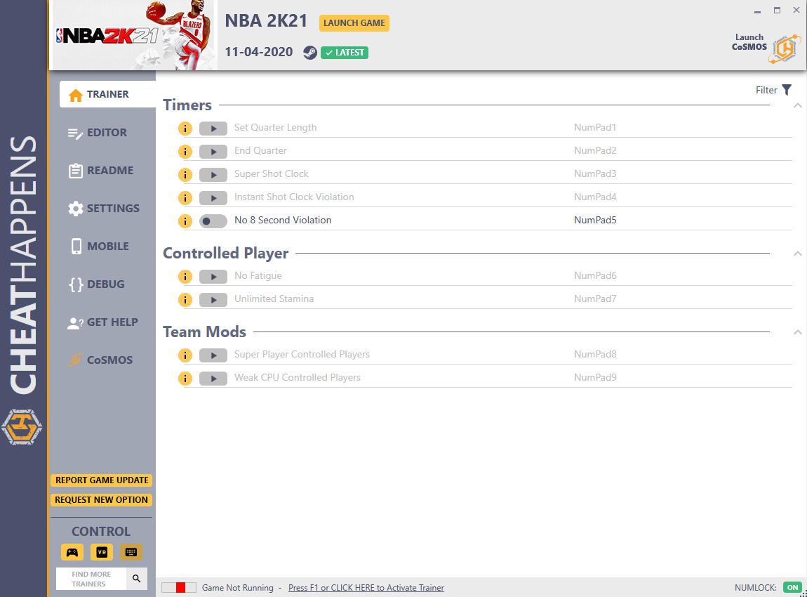 скачать NBA 2K21: +13 трейнер v11.04.2020 {CheatHappens.com}