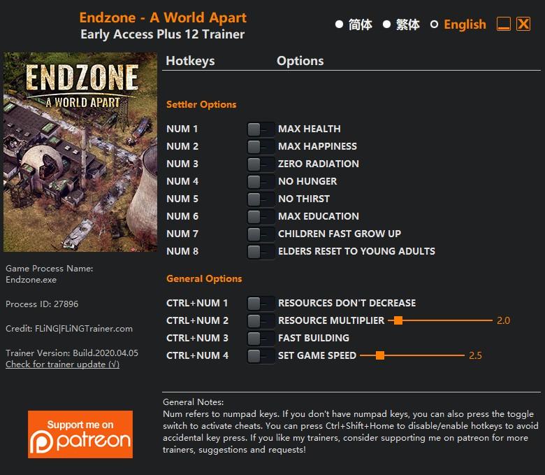 скачать Endzone - A World Apart: +12 трейнер v2020.04.05 {FLiNG}