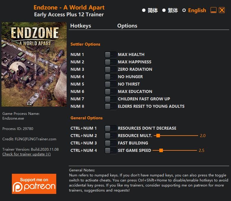 скачать Endzone - A World Apart: +12 трейнер v2020.11.08 {FLiNG}