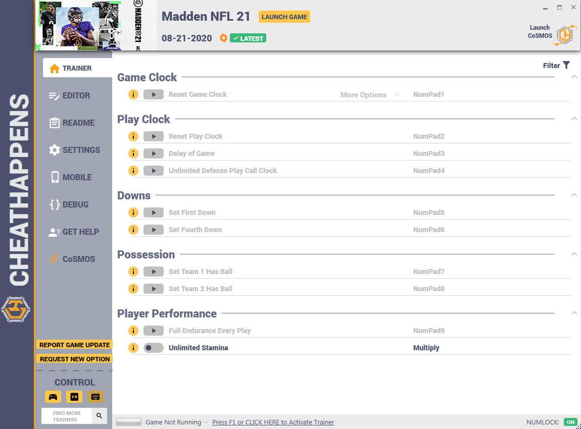 скачать Madden NFL 21: +12 трейнер v1.0 {CheatHappens.com}