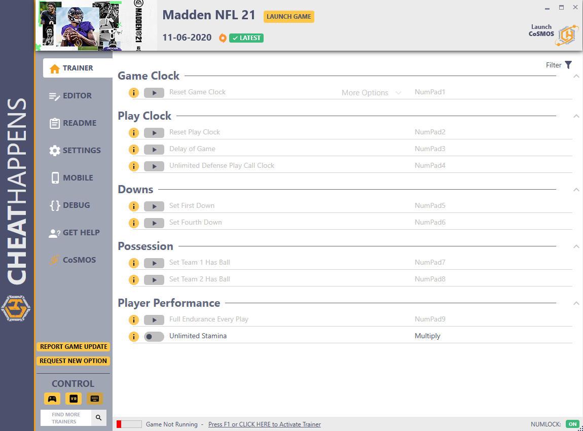 скачать Madden NFL 21: +12 трейнер v11.06.2020 {CheatHappens.com}