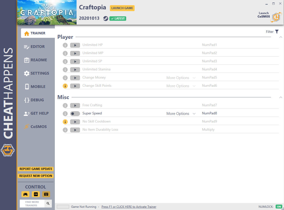 скачать Craftopia: +12 трейнер v20201013 {CheatHappens.com}