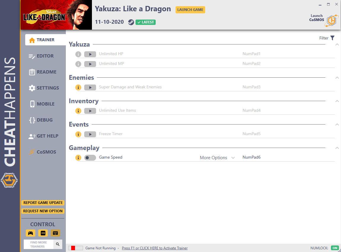 скачать Yakuza: Like a Dragon - +15 трейнер v1.0 {CheatHappens.com}