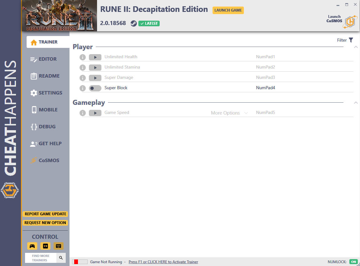 скачать Rune II: Decapitation Edition - +20 трейнер v2.0.18568 {CheatHappens.com}