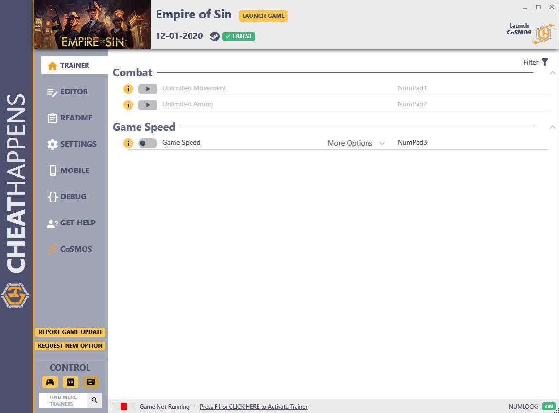 скачать Empire of Sin: +21 трейнер v1.0 {CheatHappens.com}