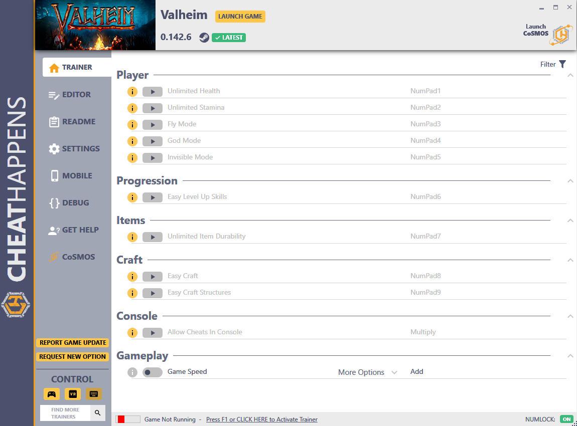 скачать Valheim: +21 трейнер v0.142.6 {CheatHappens.com}