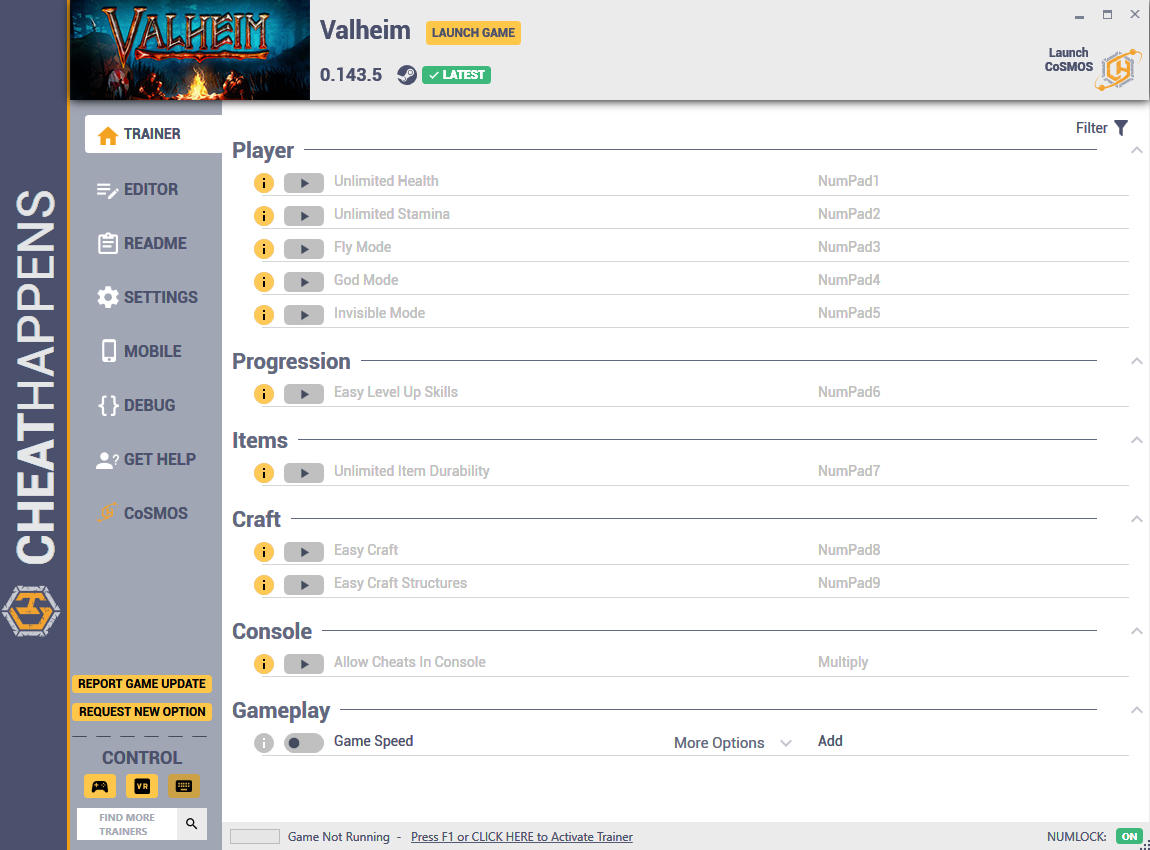 скачать Valheim: +21 трейнер v0.143.5 {CheatHappens.com}