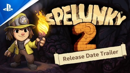 Трейлеры - Spelunky 2 - трейлер с датой выхода релиза