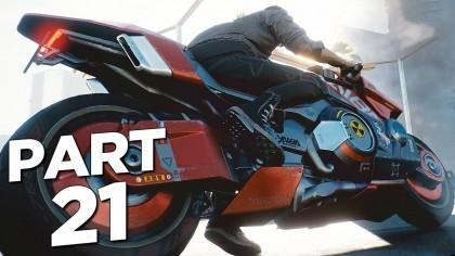 Видеопрохождения - Cyberpunk 2077 прохождение, часть 21 - Мотоцикл