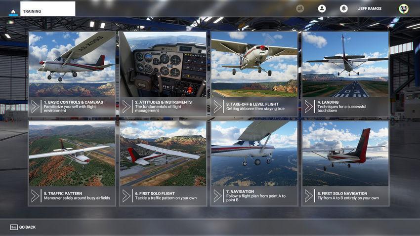 Летное обучение Microsoft Flight Simulator
