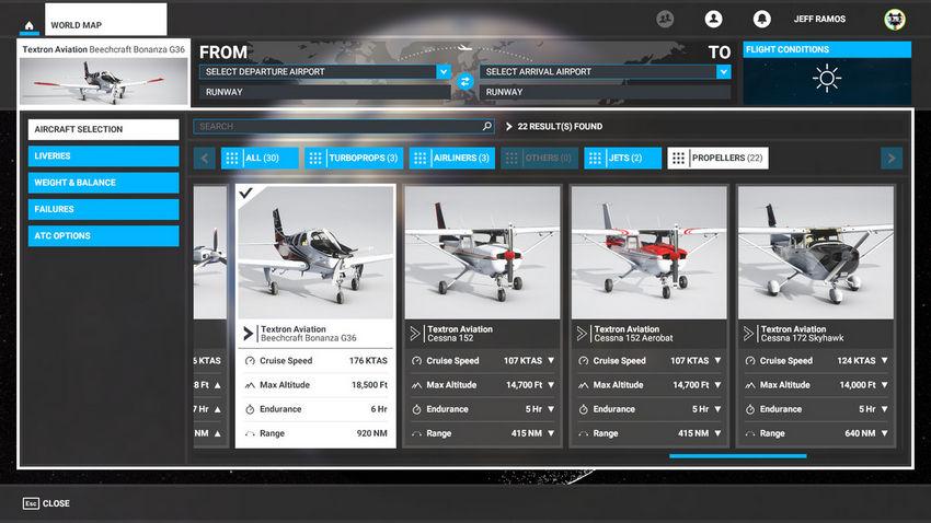 Винтовые самолеты в Microsoft Flight Simulator