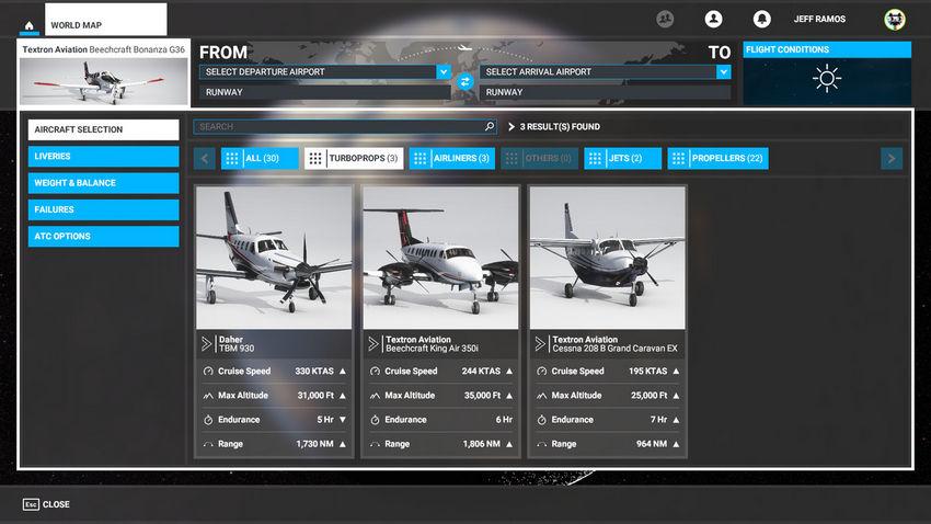 Турбовинтовые самолеты в Microsoft Flight Simulator