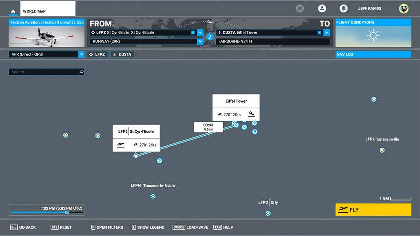 Навигация в Microsoft Flight Simulator