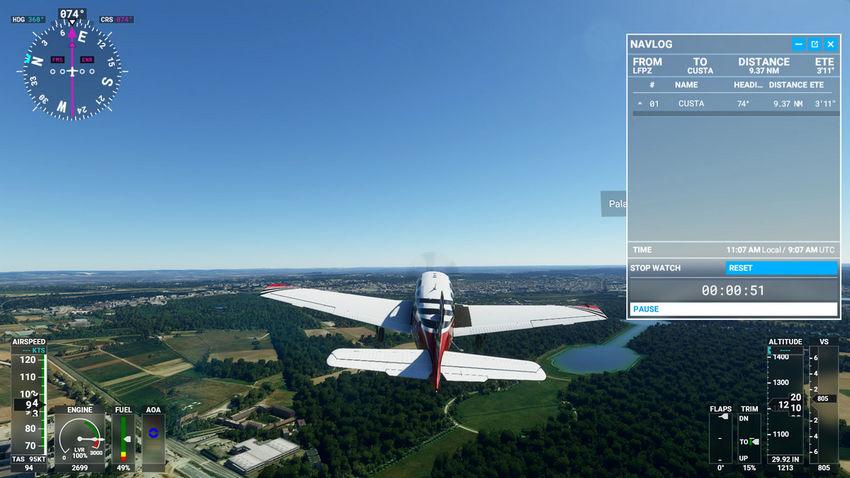 Полет в Microsoft Flight Simulator