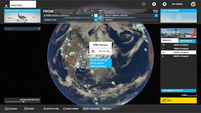 Карта в  Microsoft Flight Simulator