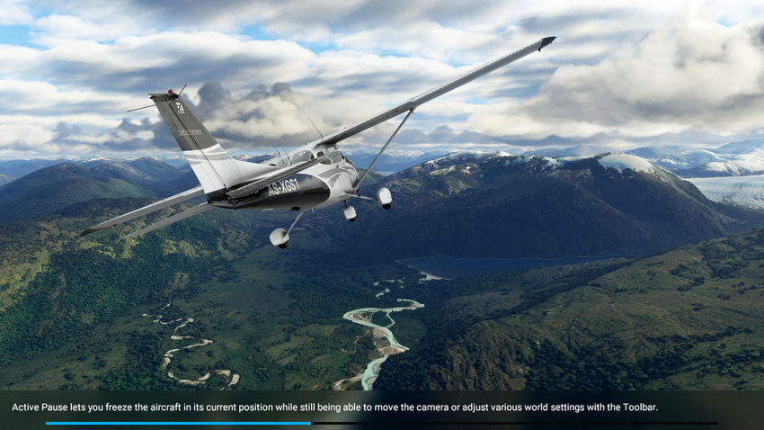 Активная пауза в Microsoft Flight Simulator