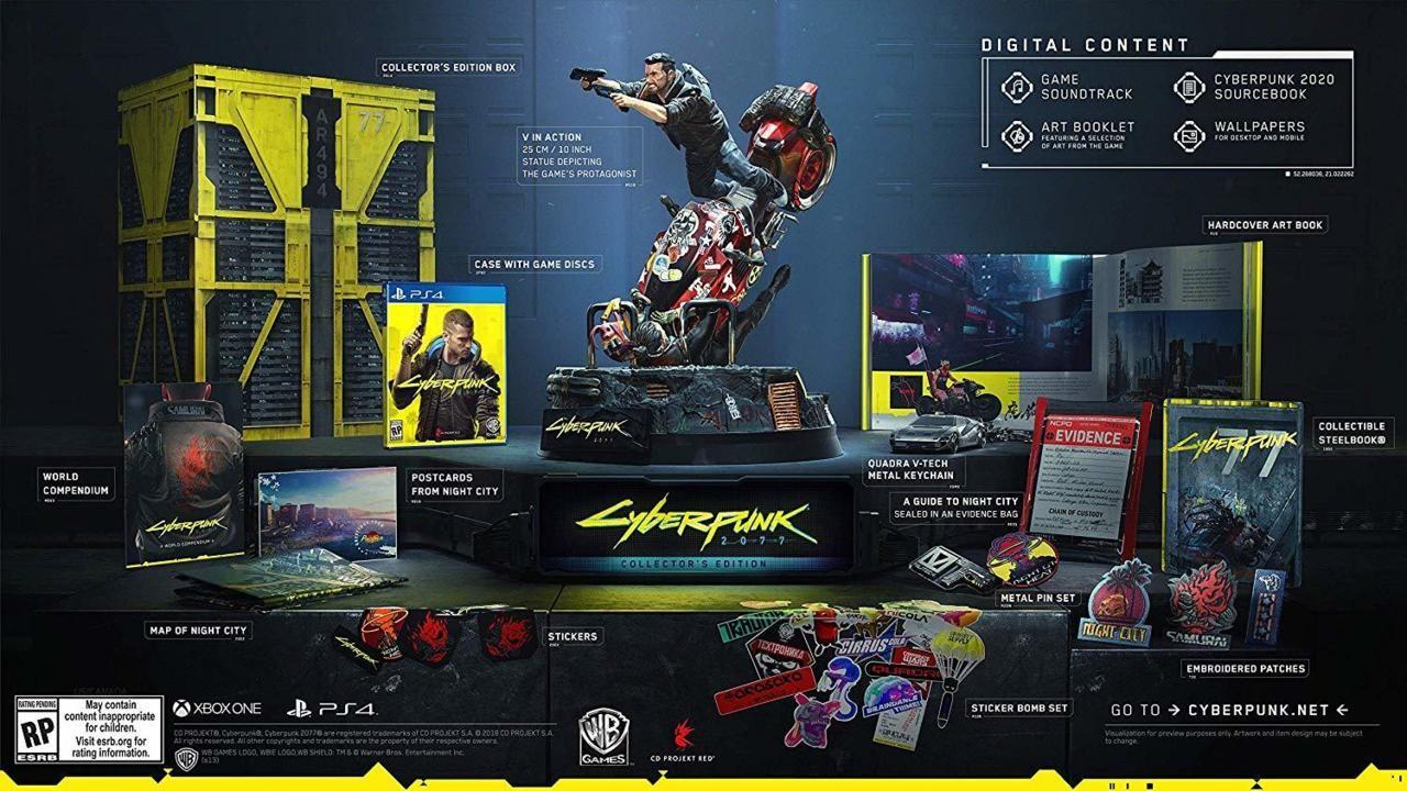 Коллекционное издание Cyberpunk 2077 - 250 долларов